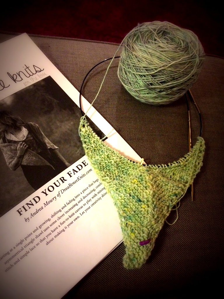 Nyt projekt: Find Your Fade Shawl