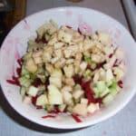 rødbede- og æblesalat