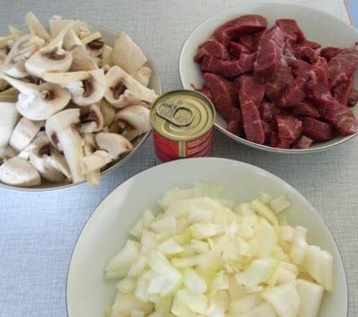 Bøf stroganoff med kød fra bondegaarden.dk