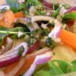 salat med pesto