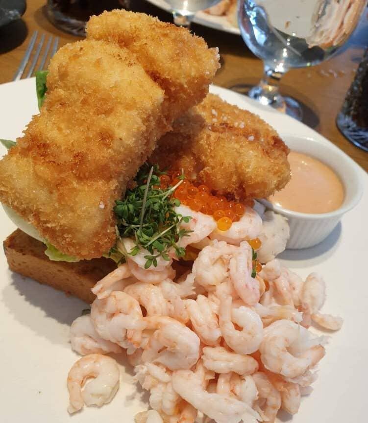 Stjerneskud på restaurant Seafood i Marselisborg Havn